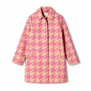 Isaac Mizrahi Pink Houndstooth Jacket Size XS NWT